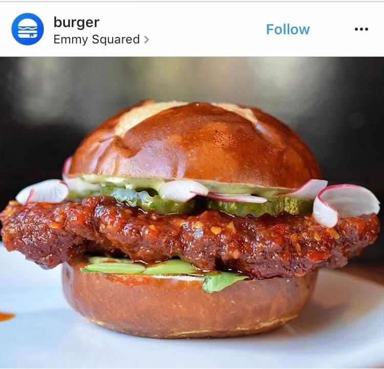 5) Emmy Squared Spicy Chicken Sandwich: